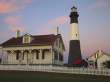 Lighthouse in Early Light at Tybee Island  Georgia  Usa