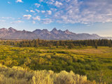 Teton Front Range and Sage at Sunrise  Antelope Flats  Grand Teton National Park  Wyoming  Usa