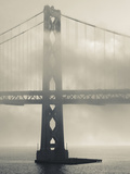 Bay Bridge in Fog  Embarcadero  San Francisco  California  Usa