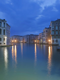 The Grand Canal at Dawn from Rialto Bridge  Venice  Italy