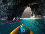Kayaking  Sea Arch  Napali Coast  Kauai  Hawaii  Usa