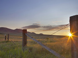 Ranching Country at Daybreak in the Sweetgrass Hills Near Whitlash  Montana  Usa