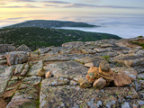 A Cairn Marks a Hiking Trail on the Summit of Cadillac Mountain  Acadia National Park  Maine  Usa