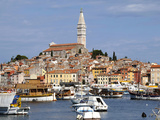 General View with St Euphemia Church  Istrian Peninsula  Rovinj  Croatia