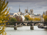 Seine River and Ile De La Cite  Paris  France