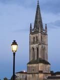 Town View with Eglise Monolithe Church  St-Emilion  Gironde Department  Aquitaine Region  France