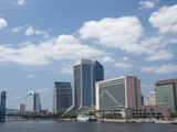 The Jacksonville Landing Area Along the St John's River  Jacksonville  Florida  Usa