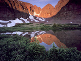 Morning Light on Quartzite Cliffs of Red Castle Peak  High Uintas Wilderness  Utah  Usa