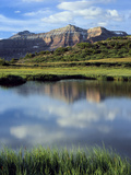 Kings Peak Massif Reflected  High Uintas Wilderness  Utah  Usa