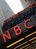 Sign of NBC News at the Rockefeller Center  New York City  New York  Usa