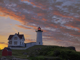 Sunrise Skies over Nubble Aka Cape Neddick Lighthouse in York  Maine  Usa