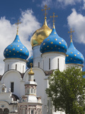 Cathedral of the Assumption  Trinity Monastery of Saint Sergius  Sergiev Posad  Moscow  Russia