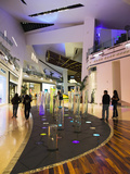 Crystals Luxury Mall Interior with Water Vortex Sculptures  City Center  Las Vegas  Nevada  Usa