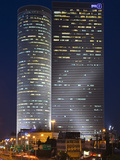 Azrieli Towers in the Evening  Tel Aviv  Israel