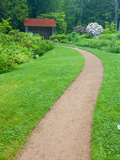 A Path at Thuya Gardens in Northeast Harbor  Maine  Usa
