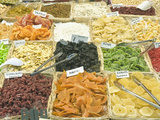 Dried Fruit for Sale at Market  Florence  Tuscany  Italy