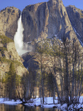Yosemite Falls Reflected in Merced River  Yosemite National Park  California  Usa