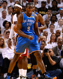 Miami  FL - June 21:  Miami Heat and Oklahoma City Thunder Game Five  Serge Ibaka