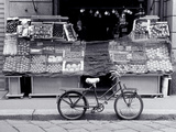 Bike Parked in Front of Fruit Stand  Lombardia  Milan  Italy