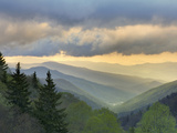 Sunrise View of Oconaluftee Valley  Great Smoky Mountains National Park  North Carolina  Usa