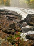 Inlet Mist over Rushing Stream  New York  Usa