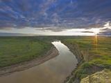 Little Missouri River  Wind Canyon Overlook  Theodore Roosevelt National Park  North Dakota  Usa