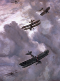 World War I Battle Between French (Model Nieuport 17) and German (Albatros D-Iii) Aircrafts