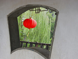 Window and Red Lantern in the Long Corridor Along the Grand Canal  Xitang  Zhejiang  China