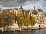 Musee Du Louvre Building in Autumn  Paris  France