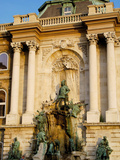 Detail of the Royal Palace  Budapest  Hungary