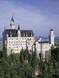 Neuschwanstein Castle  Built by King Ludwig  Fussen  Germany