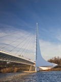 Architect Santiago Calatrava  Sundial Bridge  Turtle Bay Park  Redding  California  Usa