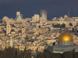 City View with Temple Mount and Dome of the Rock from the Mount of Olives  Jerusalem  Israel