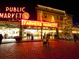 Pike Place Market  Christmas at the Pike Place Market in Seattle  Seattle  Washington  Usa