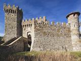 Reproduction of Italian Castle  Castello Di Amoroso Winery  Calistoga  Napa Valley  California  Usa