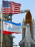 The Final Mission of Space Shuttle Endeavour Sts-134 on Pad 39A at Cape Canaveral  Florida  Usa