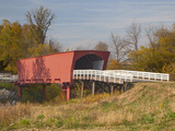 Roseman Covered Bridge Spans Middle River  Built in 1883  Madison County  Iowa  Usa