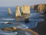 Morning Sun on Twelve Apostles  Tasman Sea  Port Campbell National Park  Victoria  Australia