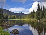 Paradise Lake in the Ten Lakes Scenic Area of the Kootenai National Forest  Montana  Usa