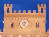 Palazzo Pubblico (City Hall) Detail  Siena  Tuscany  Italy
