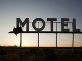 Motel Sign at Sunrise on Spring Morning in High Desert  Coulee City  Washington  Usa