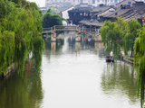 Old Residence and Stone Bridge on the Grand Canal  Xitang  Zhejiang  China