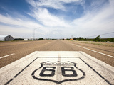 Route 66 Marker on Highway  Tucumcari  New Mexico  Usa