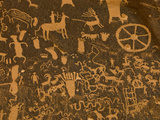 Fremont  Anasazi  Navajo and Anglo Culture Symbols  Newspaper Rock Historical Monument  Utah  Usa