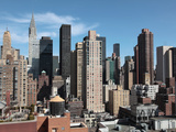 The Cityscape of Manhattan with Chrysler Building in the Background  New York City  New York  Usa