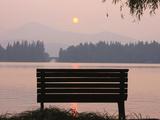 Bench by West Lake  Hangzhou  Zhejiang  China
