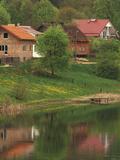 Spring Scene  Rapaty Village  Marmia and Masuria  Poland
