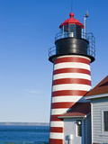 West Quoddy Head Light at Quoddy Head State Park in Lubec  Maine  Easternmost Point of Usa