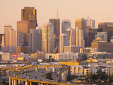 View of Downtown and I-280 Highway  Potrero Hill  San Francisco  California  Usa