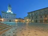 Palazzo Comunale (City Hall) and Palazzo Tanugi at Dawn  Montepulciano  Tuscany  Italy